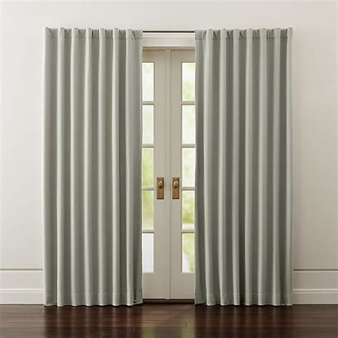 wallace grey blackout curtains crate  barrel