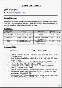 Mba Resume Format For Freshers Pdf Ccna Network Engineer Fresher Resume