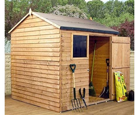 8x6 wood storage shed waltons 8ft x 6ft overlap apex wooden storage shed