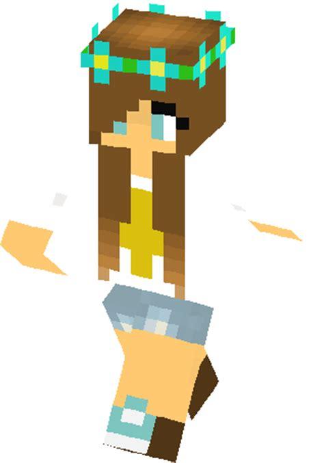 cute flower crown girl skin minecraft skins