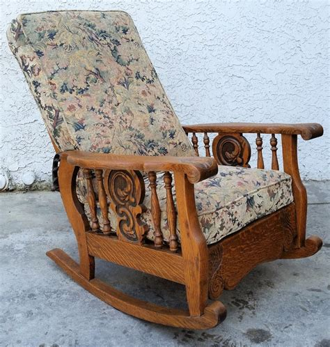 antique oak chair antique american tiger oak morris arm chair recliner 1292