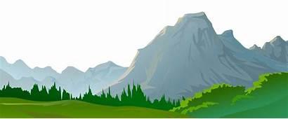 Mountain Transparent Clipart Landscape Ground Mountains Grass