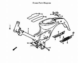 Just Take It  Honda C70 Passport Frame Parts Diagram