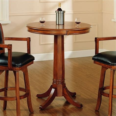 round bar height table hillsdale park view round bar height pub table in medium