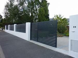 Cloture Maison Moderne : portail aluminium et cl ture paysagiste la baule ~ Melissatoandfro.com Idées de Décoration
