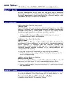objective security resume objective for security guard resume security guards companies