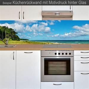 Kalkflecken Auf Glas : k chenr ckwand aus glas mit motivdruck strand online kaufen ~ Markanthonyermac.com Haus und Dekorationen
