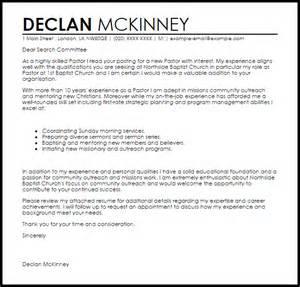 ministry resume cover letter pastor cover letter sle livecareer
