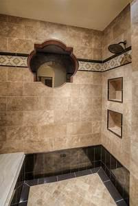 Salle De Bain Carrelage Noir : le carrelage beige pour salle de bain 54 photos de ~ Dailycaller-alerts.com Idées de Décoration