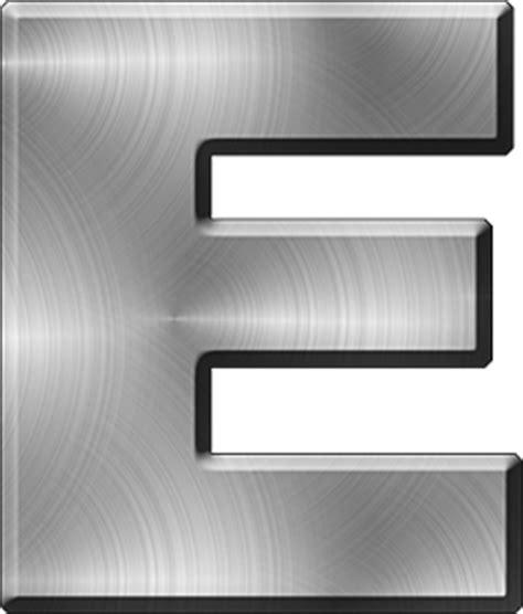 presentation alphabets brushed metal letter a presentation alphabets brushed metal letter e 31331