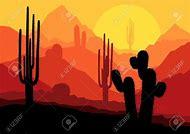 Vector Desert Sunset Mexico