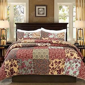 Luxury, Retro, Floral, Stitching, Cotton, Patchwork, Bedspread