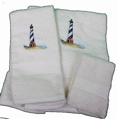 Lighthouse Hatteras Towels Bath Cape Towel Embroidered