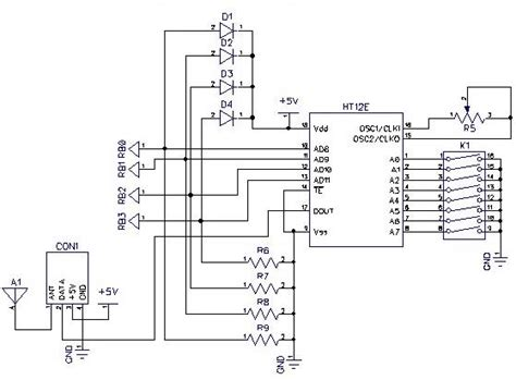 Wireles Signal Diagram by Circuit Diagram Of The Rf Signal Transmitting Unit For