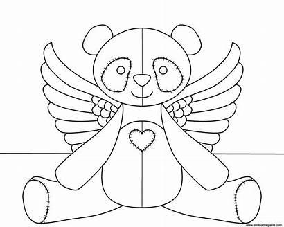 Panda Coloring Flying Transparent Angel Donteatthepaste Version