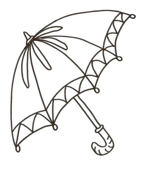 umbrella coloring sheet clipart