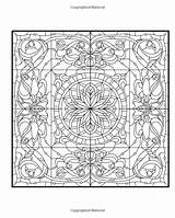 Pages Colouring Coloring Squares Decorative Adult Sheets Printable Pattern Adults Books Square раскраски Stained Glass для печати Mandala Patterns Arabic sketch template