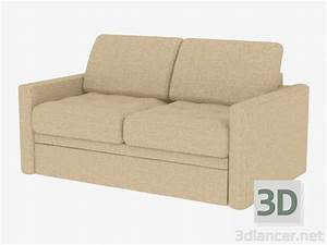 3d model double sofa bed for 2 persons manufacturer pushe With sofa bed for two persons