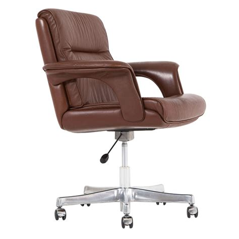 executive conference desk office chair in brown