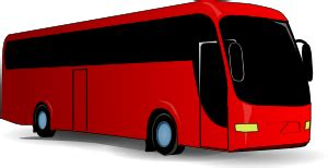 red travel bus clip art  clkercom vector clip art  royalty  public domain