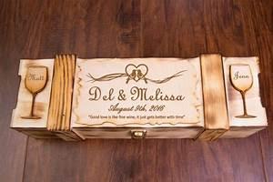 wedding wine box engraved personalized ceremony wine With wedding love letter ceremony box keepsake
