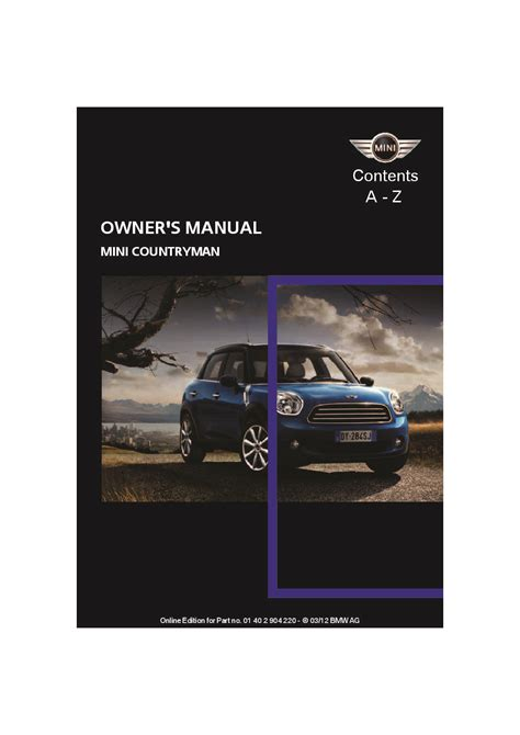 mini countryman owners manual  give   damn