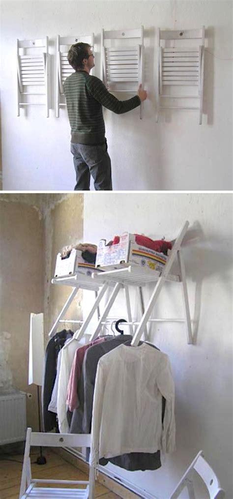 diy hanging chair closet organizer homemydesign