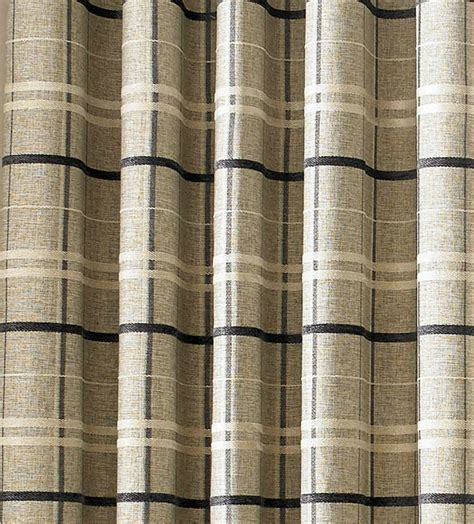 york eyelet heavy weight check design in a chenille fabric