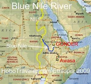 Maps of Nile Rivers Influence on Ethiopia