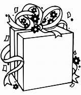 Coloring Present Pages Christmas Presents Blank sketch template