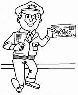 Mailman Coloring Pages Postman Preschool Community Office Helpers Mail Google Drawing Books Printable Letter Template Colouring Carrier Truck Sheets Getdrawings sketch template