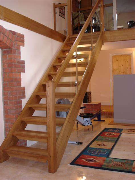 mission style wall bespoke wooden staircase alton hshire timber stair