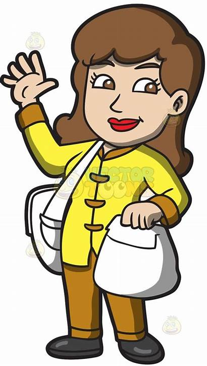Waving Woman Clipart Hello Hi Delivery Clipground
