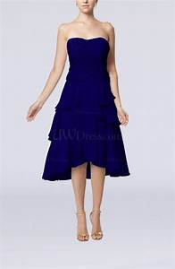 electric blue romantic a line sleeveless backless chiffon With a line dresses for wedding guests
