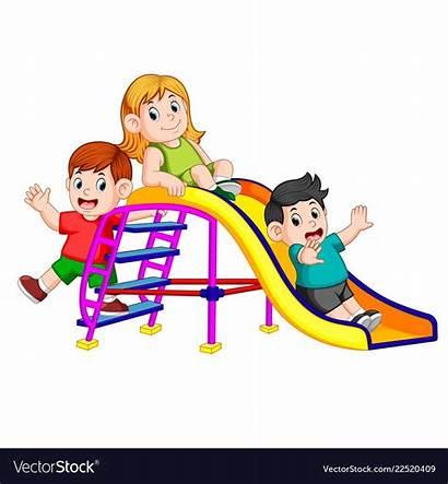 Slide Clipart Fun Play Childrens Vector 3d