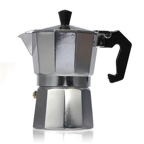 aluminum moka espresso latte percolator stove coffee maker