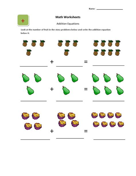 Free Basic Addition Worksheets