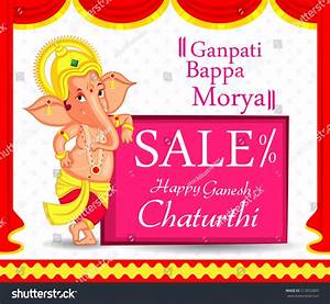 Lord Ganesha In Vector For Happy Ganesh Chaturthi With ...