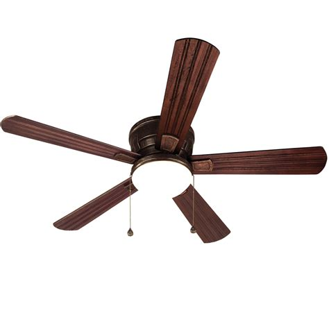 oil rubbed bronze ceiling fan with light flush mount shop harbor breeze oceanside 52 in oil rubbed bronze