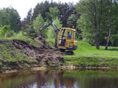 mini excavator   royalty  stock   dreamstime