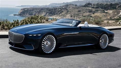 vision mercedes maybach  cabrio  electrifying grand
