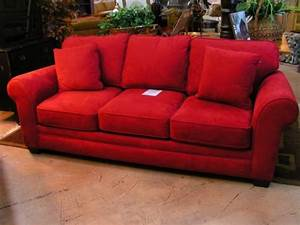 red microsuede sleeper sofa sofas we love pinterest With red microsuede sectional sofa
