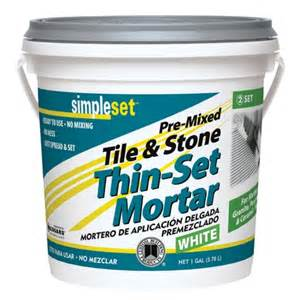 simpleset 174 pre mixed ceramic tile thin set mortar tile