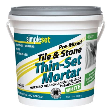 Thinset For Porcelain Wall Tile by Simpleset 174 Pre Mixed Ceramic Tile Thin Set Mortar Tile