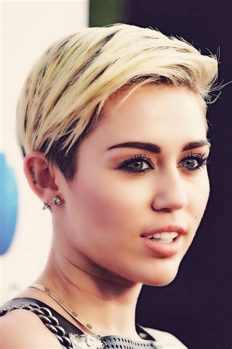 miley cyrus current hairstyle fade haircut