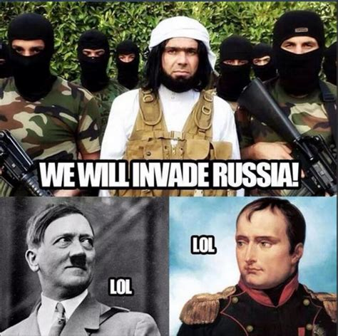 Isis Memes - isis will invade russia isis daesh know your meme