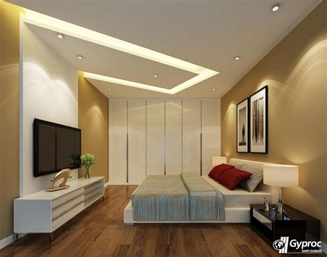 bedroom  elegant  stunning  beautiful gyproc india falseceiling bedroom