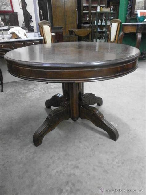 antigua mesa redonda isabelina de comedor vendido