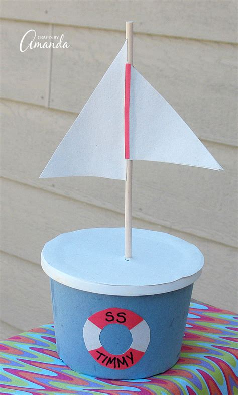 margarine tub boat fun family crafts