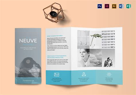 simple  clean photography brochure design template